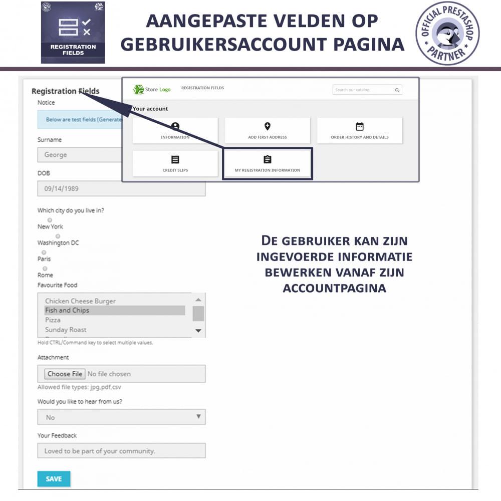 module - Registratie en Proces van bestellingen - Aangepaste Registratievelden-Validatie Van Registratie - 4