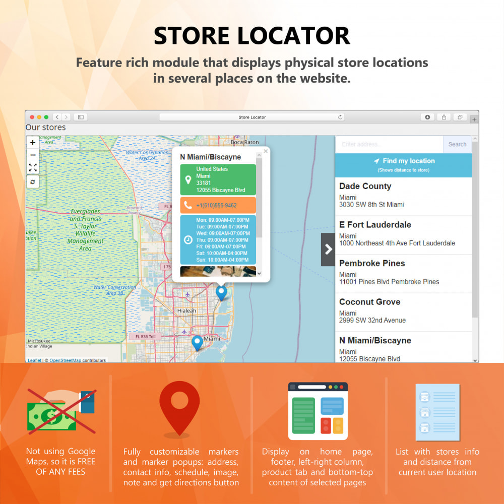 module - Internationalisierung & Lokalisierung - Store Locator (FREE - No Google Maps) - 1
