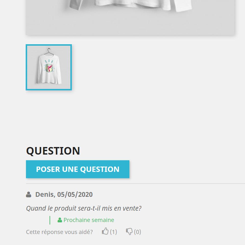 module - FAQ (questions fréquentes) - Réponse à la question dans le produit - 2