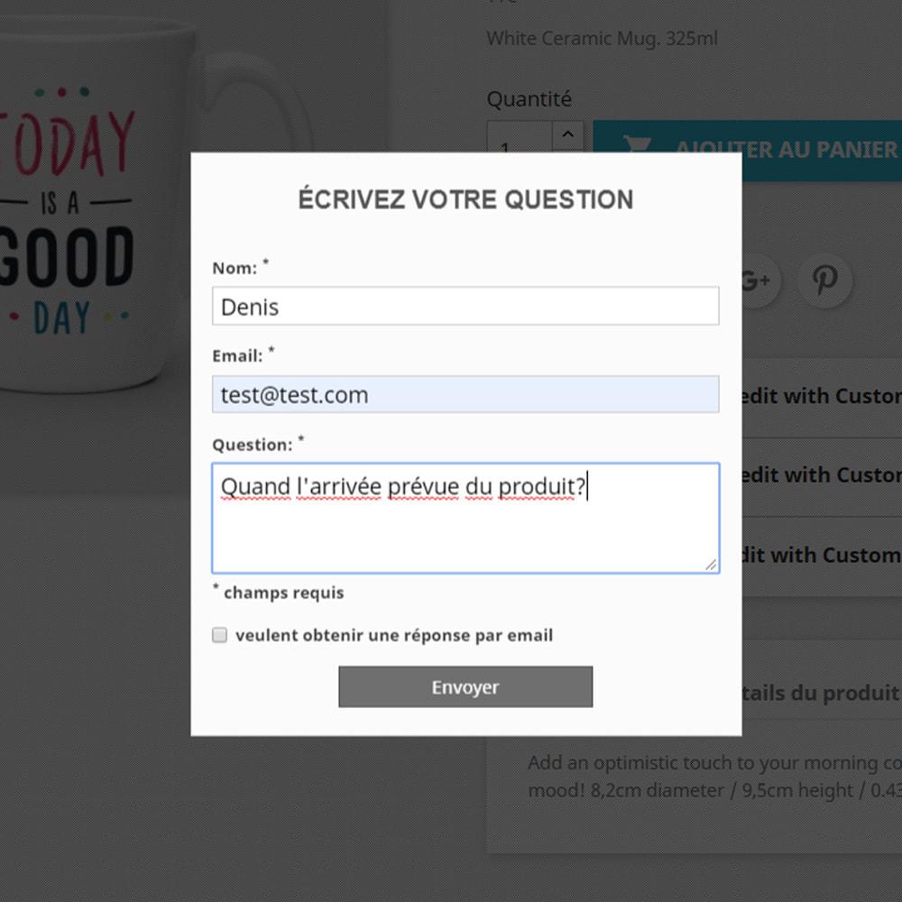 module - FAQ (questions fréquentes) - Réponse à la question dans le produit - 3
