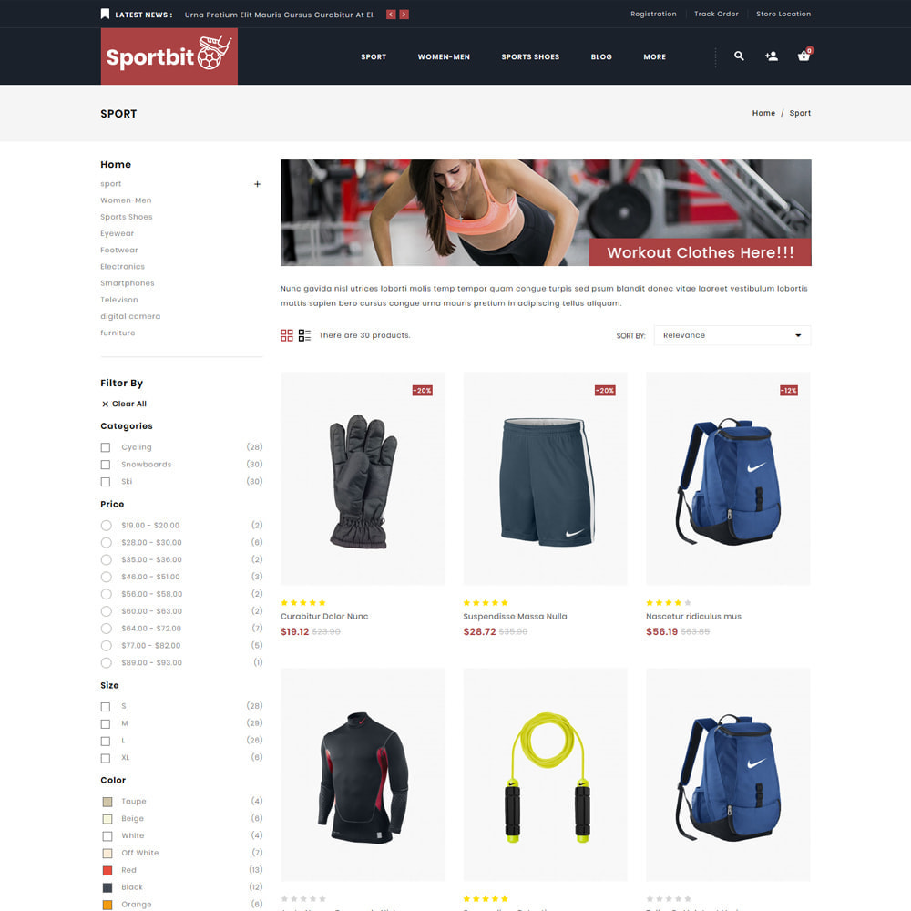 theme - Sports, Activities & Travel - Sportbit - Fitness Shop - 3