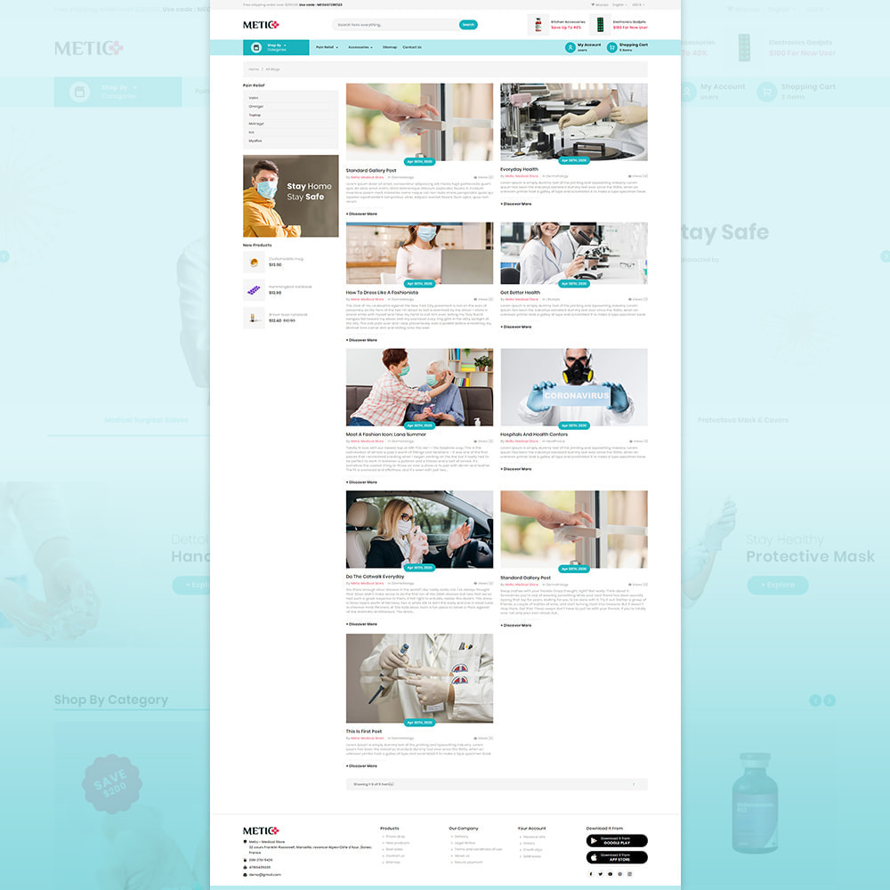 theme - Health & Beauty - Metic - Medical Supplies Store - 6