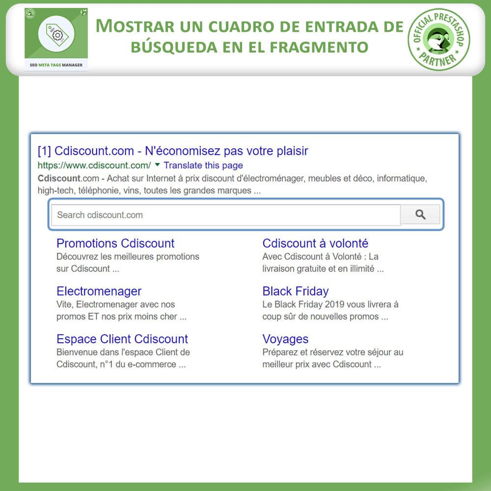 module - SEO (Posicionamiento en buscadores) - Meta Tag Manager - 2