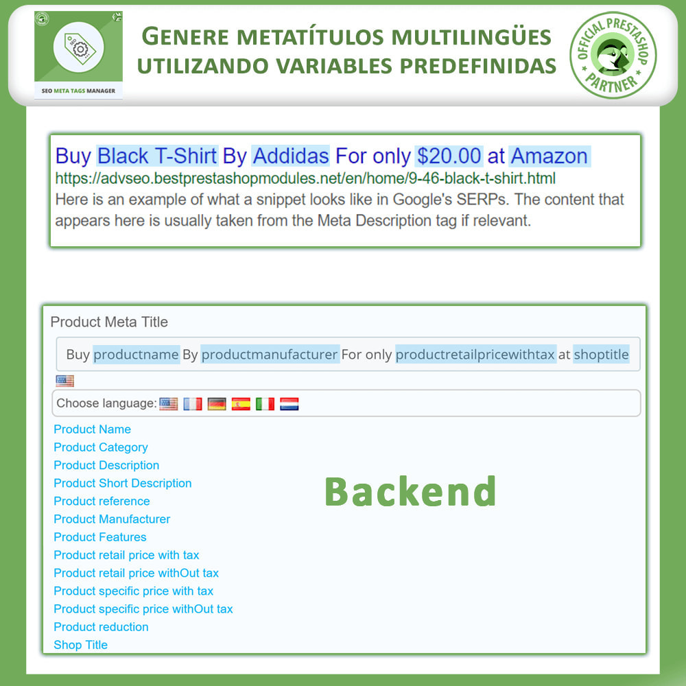 module - SEO (Posicionamiento en buscadores) - Meta Tag Manager - 5