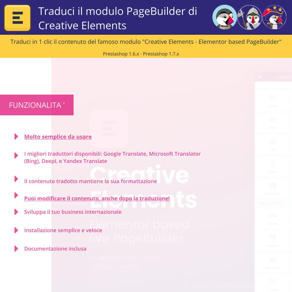 module - Lingue & Traduzioni - Tradurre il Elementi Creativi PageBuilder - 1