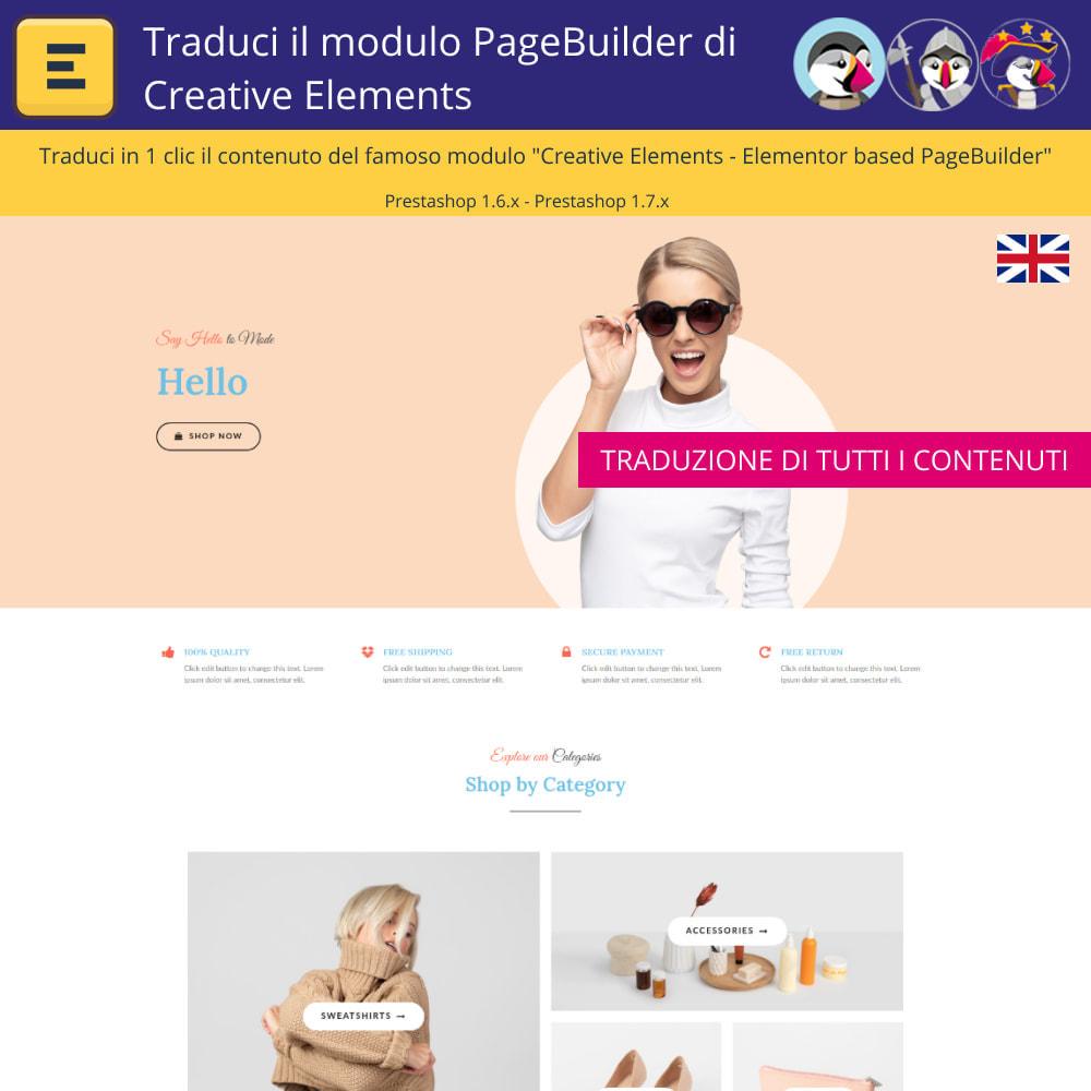 module - Lingue & Traduzioni - Tradurre il Elementi Creativi PageBuilder - 3