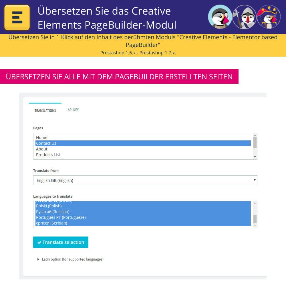 module - Internationalisierung & Lokalisierung - Übersetzen Sie den Creative Elements PageBuilder - 5