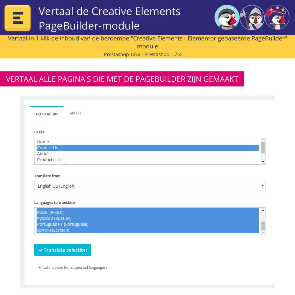 module - Internationaal & Lokalisatie - Translate The Creative Elements PageBuilder - 5