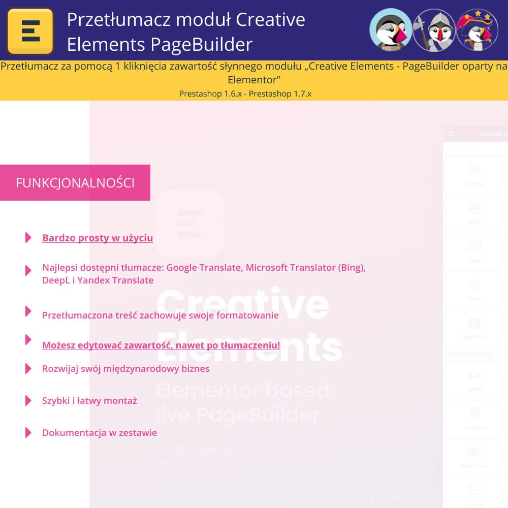 module - Międzynarodowość & Lokalizacja - Translate The Creative Elements PageBuilder - 1