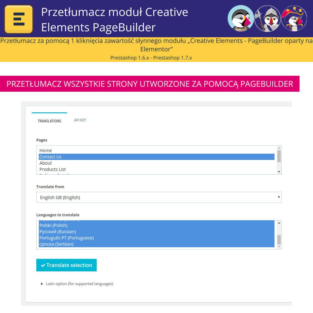 module - Międzynarodowość & Lokalizacja - Translate The Creative Elements PageBuilder - 5