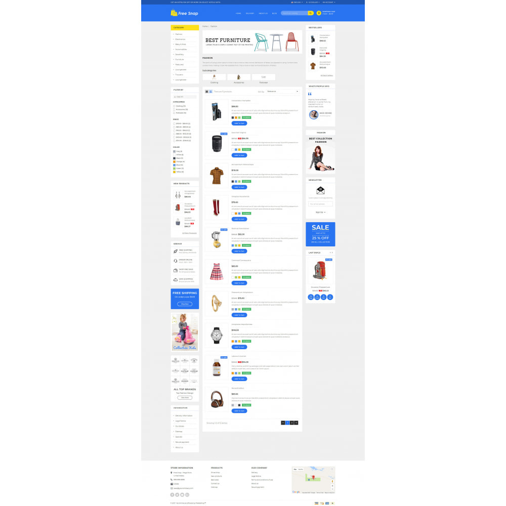 theme - Fashion & Shoes - Free Snap - Multipurpose Store - 4