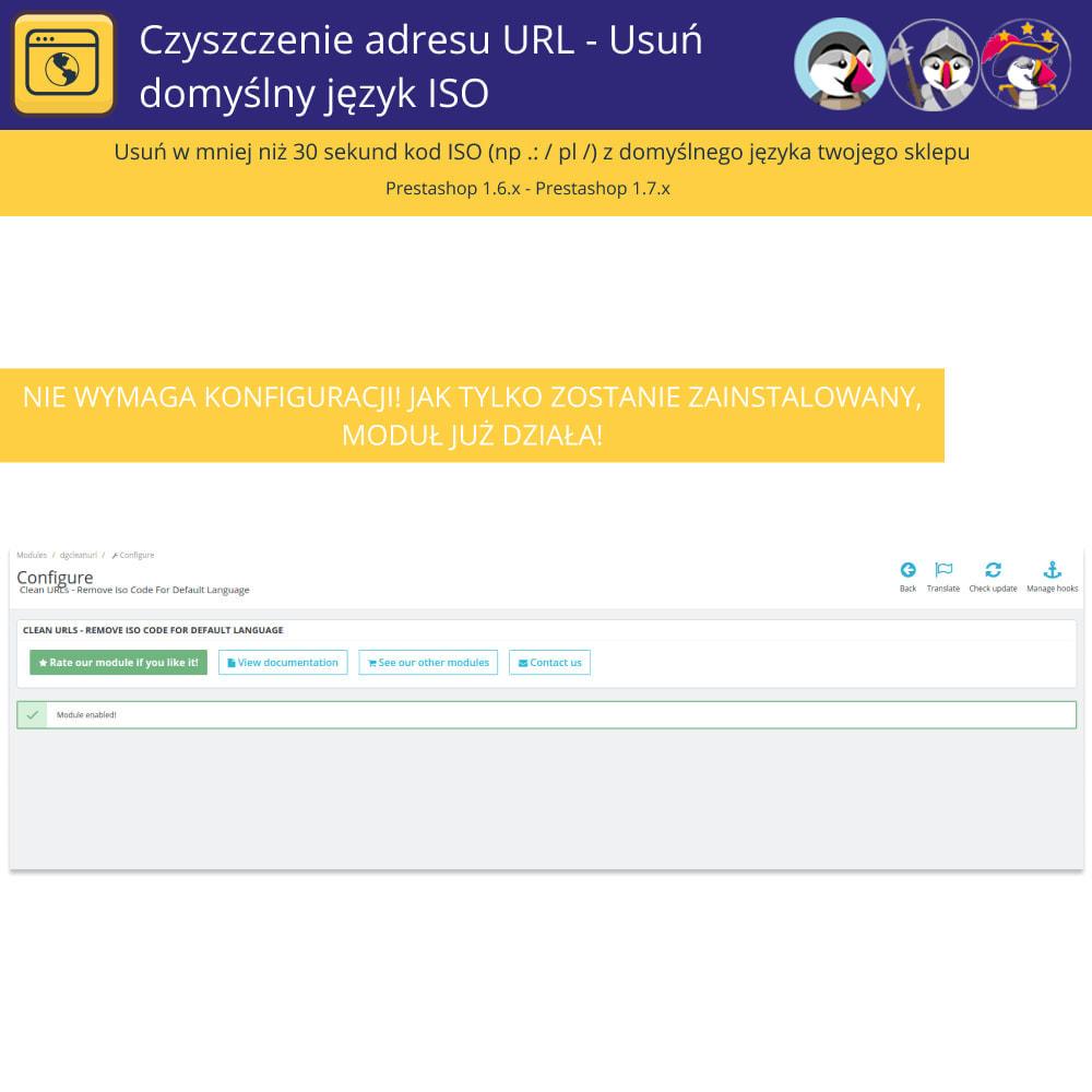 module - URL & Przekierowania - URL Cleaner - Usuń język domyślny Iso - 3