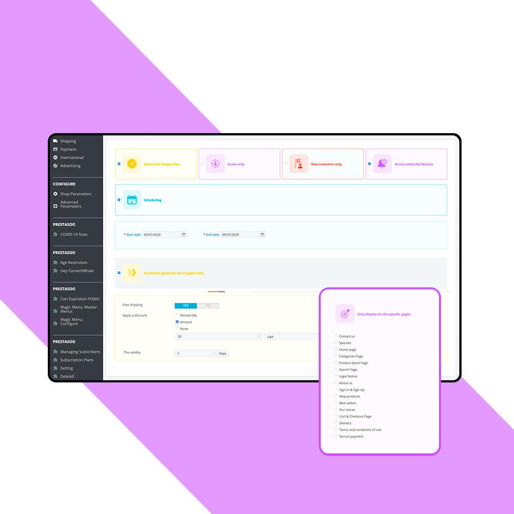 module - Newsletter & SMS - Newsletter Popup: MailChimp, HubSpot, SendinBlue + API - 8