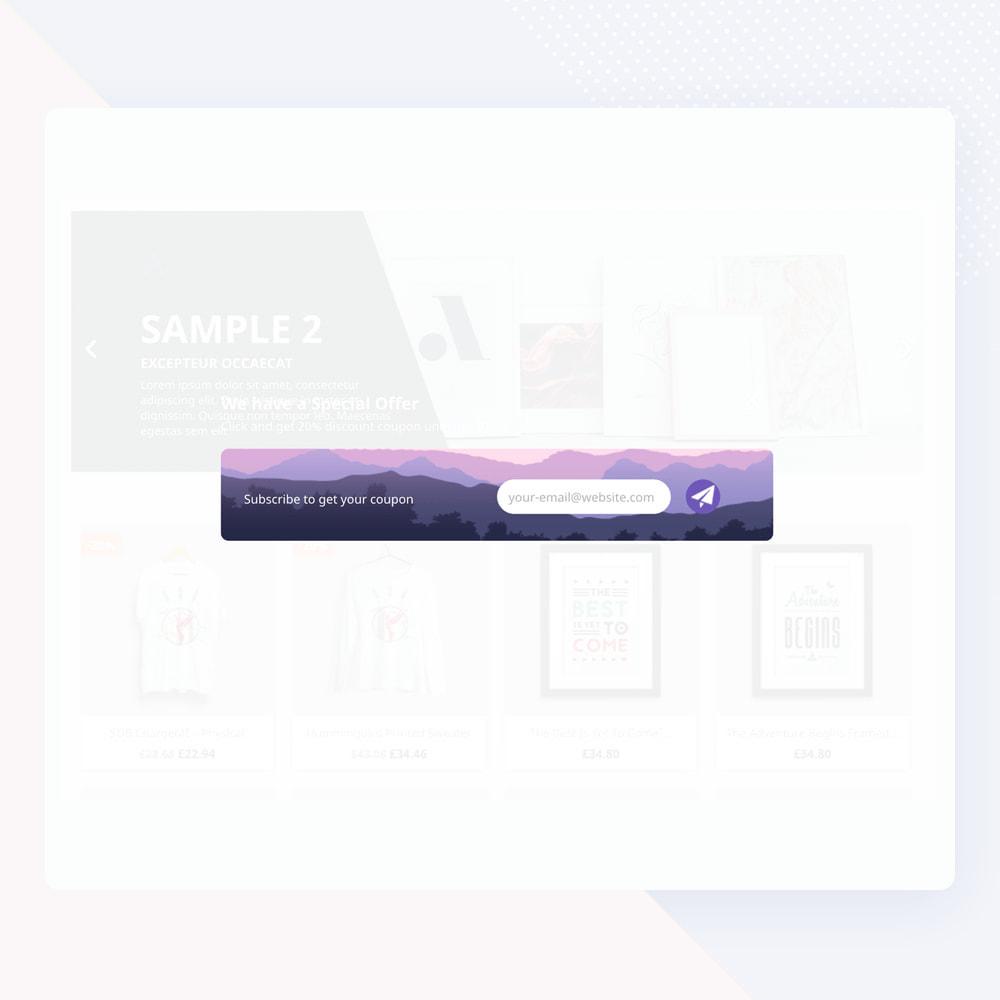 module - Newsletter y SMS - Newsletter Popup: MailChimp, HubSpot, SendinBlue + API - 12