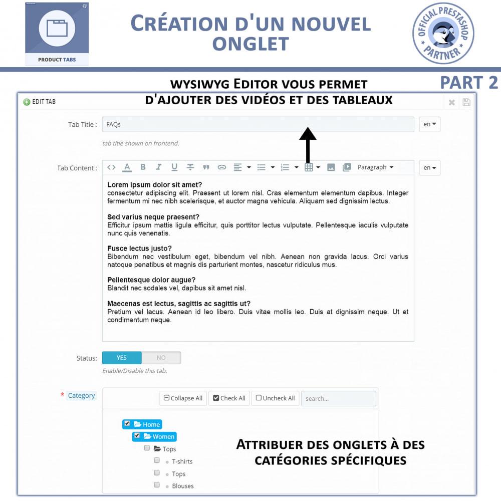 module - Information supplémentaire & Onglet produit - Onglets de Produits - 7