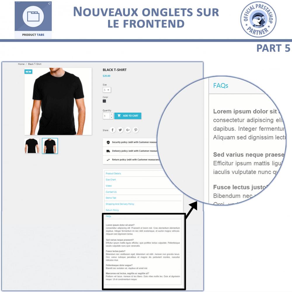 module - Information supplémentaire & Onglet produit - Onglets de Produits - 10