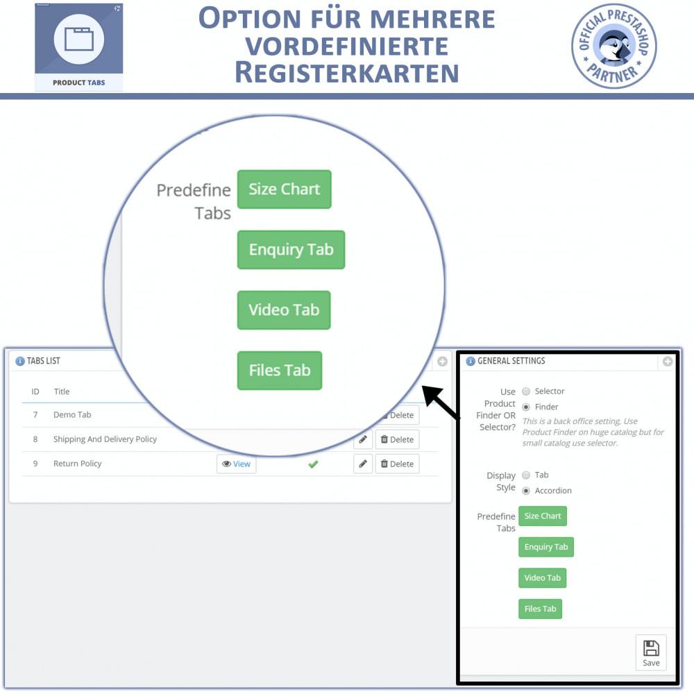 module - Zusatzinformationen & Produkt-Tabs - Produkt Tabs – Fügen Sie zusätzliche Tabs ein - 5