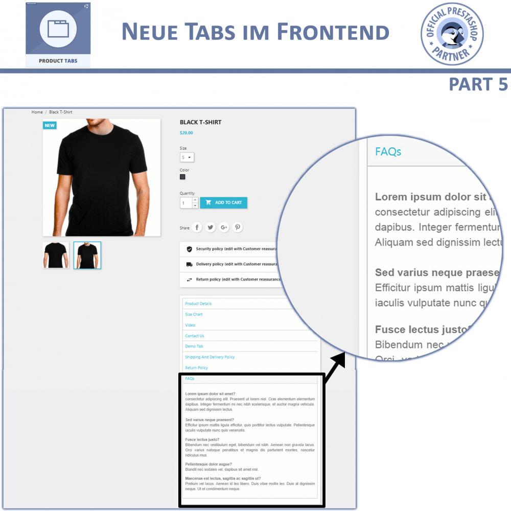 module - Zusatzinformationen & Produkt-Tabs - Produkt Tabs – Fügen Sie zusätzliche Tabs ein - 10