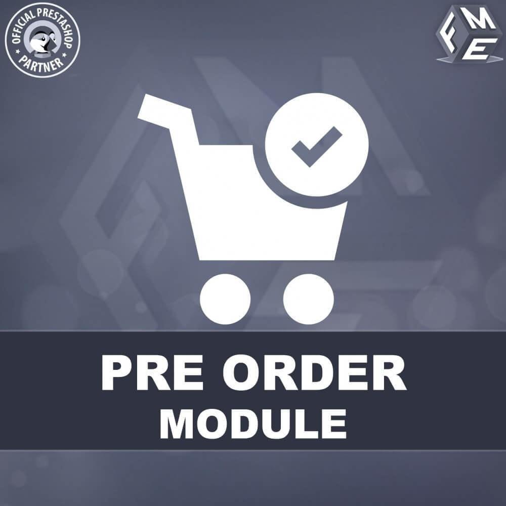 module - Registratie en Proces van bestellingen - Pre-Order - Advance Booking   Out of Stock Selling - 1