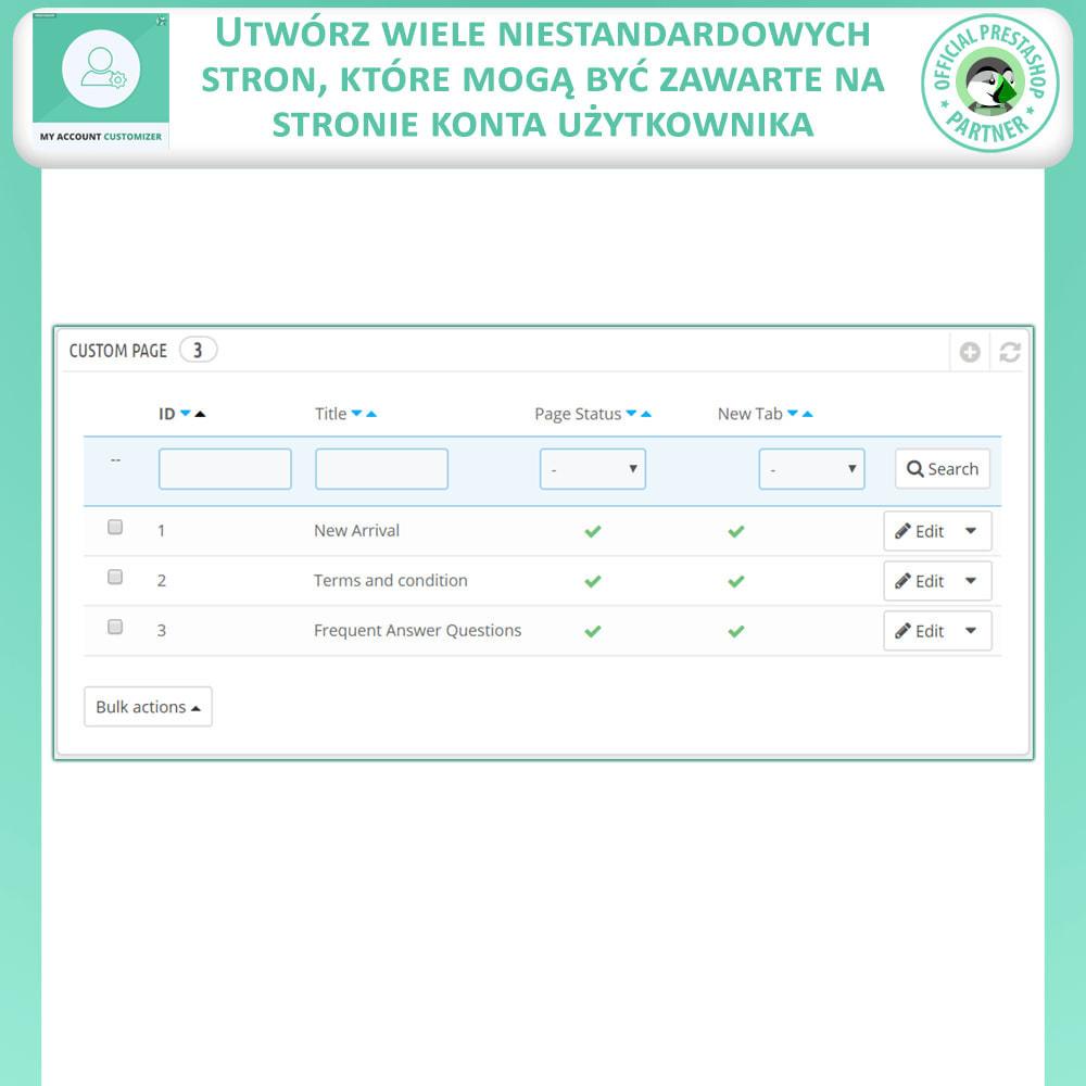 module - Narzędzia administracyjne - Mój Konto Dostosowywanie - 8