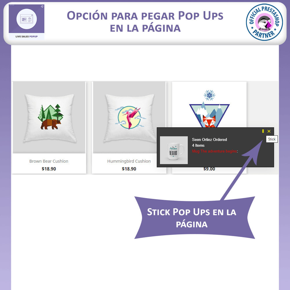 module - Pop-up - Ventana Emergente de Ventas en Vivo - 3