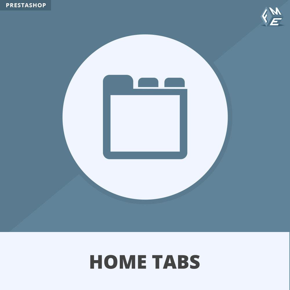 module - Bloki, Zakładki & Banery - HomeTabs - Dodaj niestandardowe karty - 1