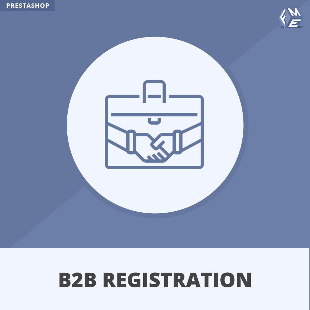 module - Registratie en Proces van bestellingen - B2B Registratie - 1