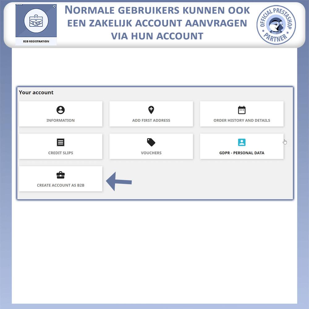 module - Registratie en Proces van bestellingen - B2B Registratie - 4