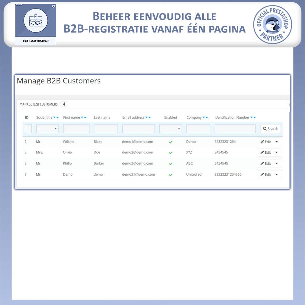module - Registratie en Proces van bestellingen - B2B Registratie - 5