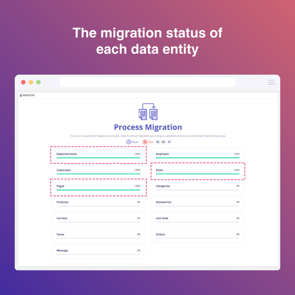 module - Data Migration & Backup - Migrate WooCommerce to Prestashop - 6