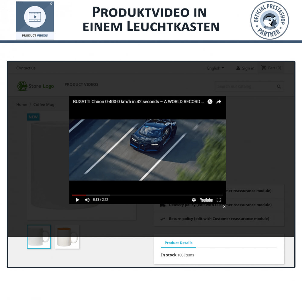 module - Videos & Musik - Product Videos - Upload or Embed YouTube, Vimeo - 5