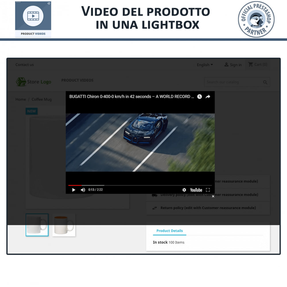 module - Video & Musica - Product Videos - Upload or Embed YouTube, Vimeo - 5
