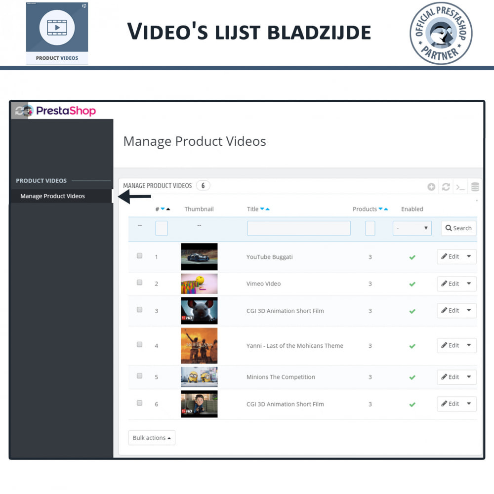 module - Video's & Muziek - Productvideo's - Upload of sluit YouTube, Vimeo in - 10