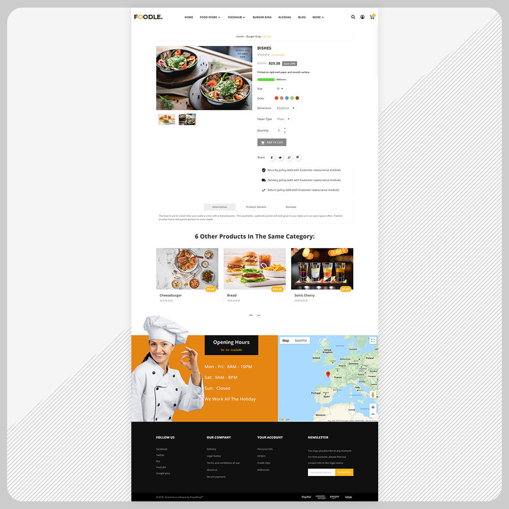 theme - Gastronomía y Restauración - Foodle Aliments Restaurant–Food Delivery Store - 4