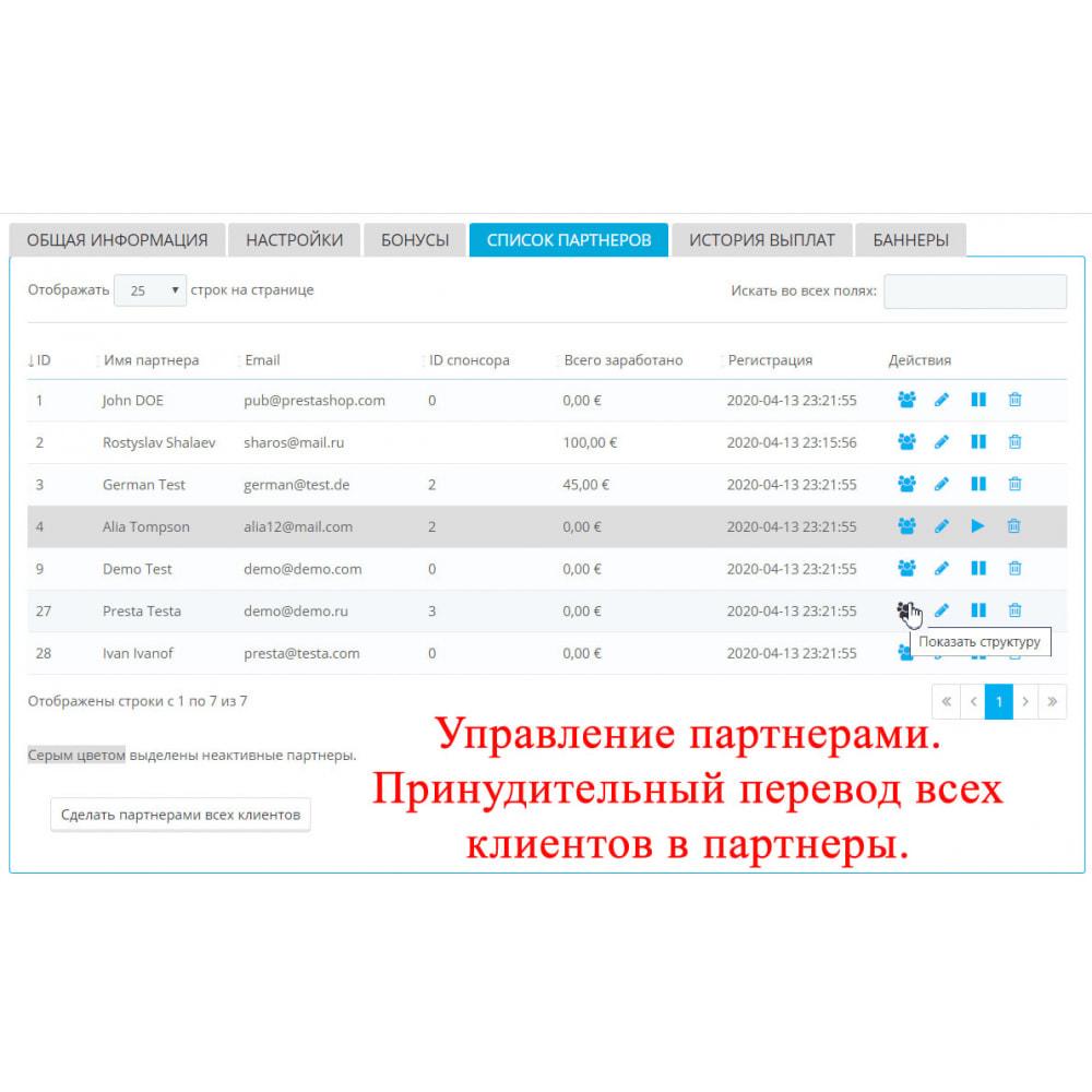 module - Платная поисковая оптимизация - Расширенная партнерская программа RefPRO - 6