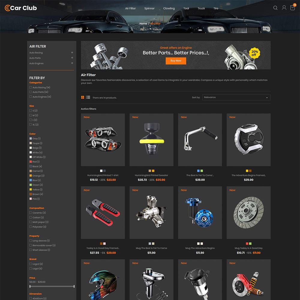 theme - Auto & Moto - Carclub - Magasin de pièces de rechange pour moteur - 4