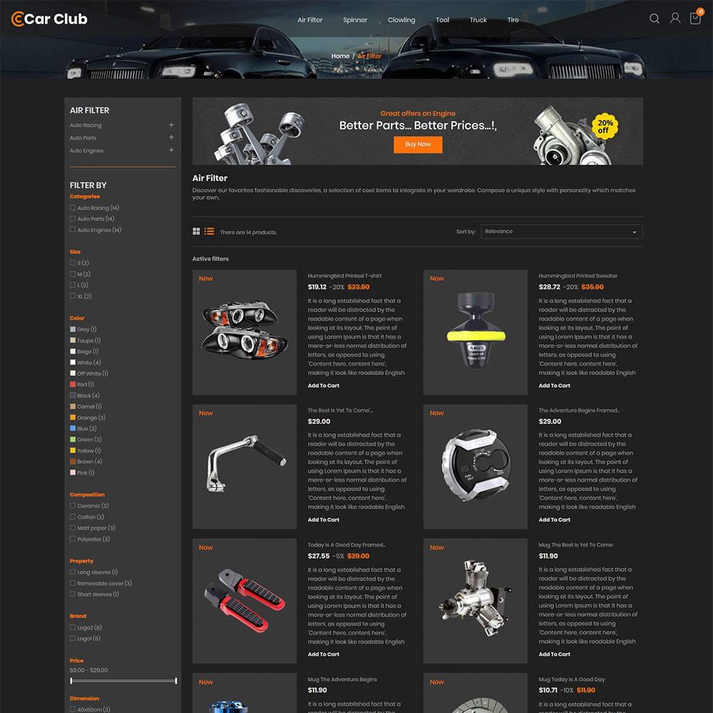 theme - Auto & Moto - Carclub - Magasin de pièces de rechange pour moteur - 5