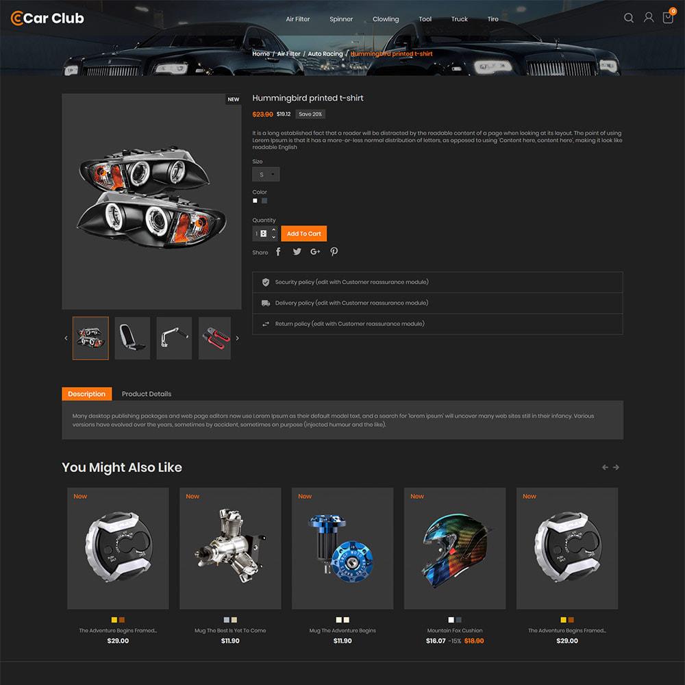 theme - Auto & Moto - Carclub - Negozio di ricambi per motori per utensili - 6