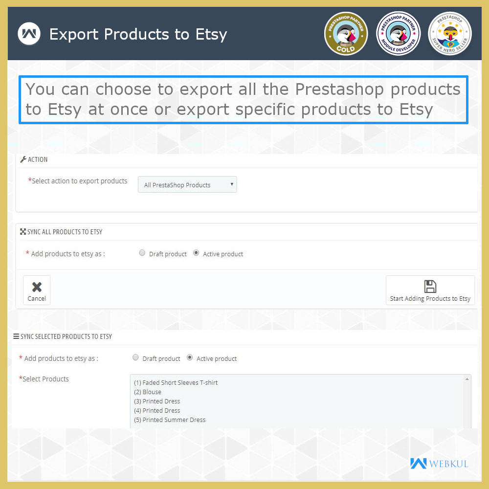 module - Platforma handlowa (marketplace) - Etsy Connector - 4