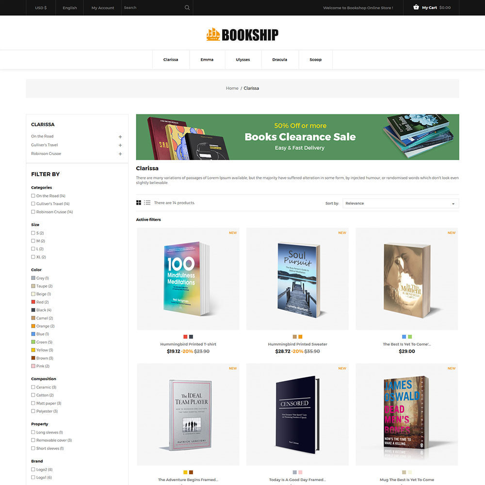 theme - Arte & Cultura - Bookship - Book Online Library Magazine Store - 4
