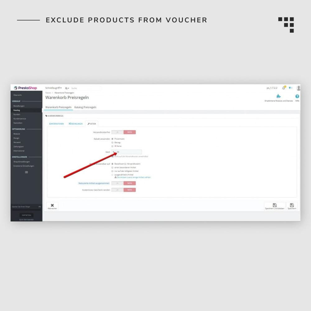 module - Promociones y Regalos - Exclude Products from Voucher - 4
