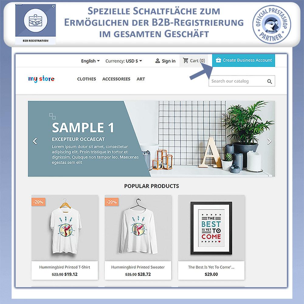 module - Anmeldung und Bestellvorgang - B2B-Registrierung - 2