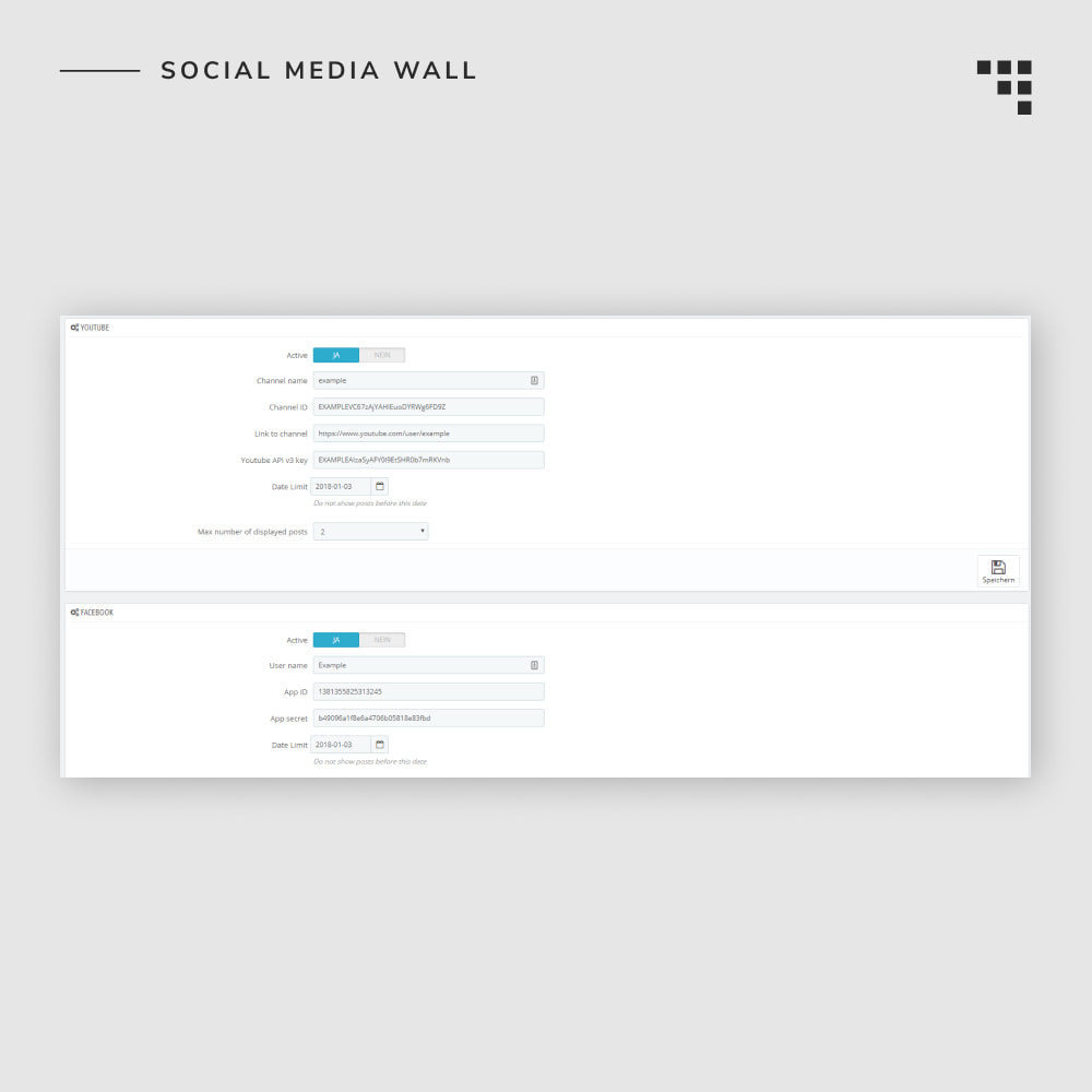 module - Products on Facebook & Social Networks - Social Media Wall - 5