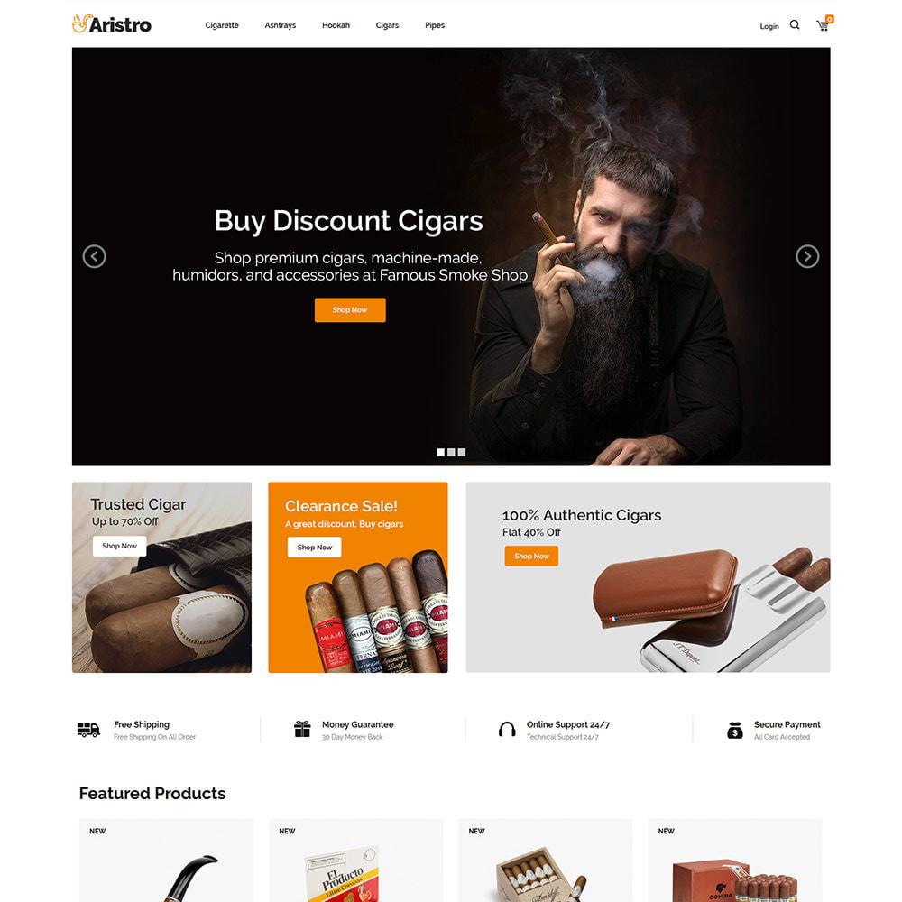 theme - Bebidas y Tabaco - Aristo Drink - Tienda de cigarros con humo de tabaco - 3