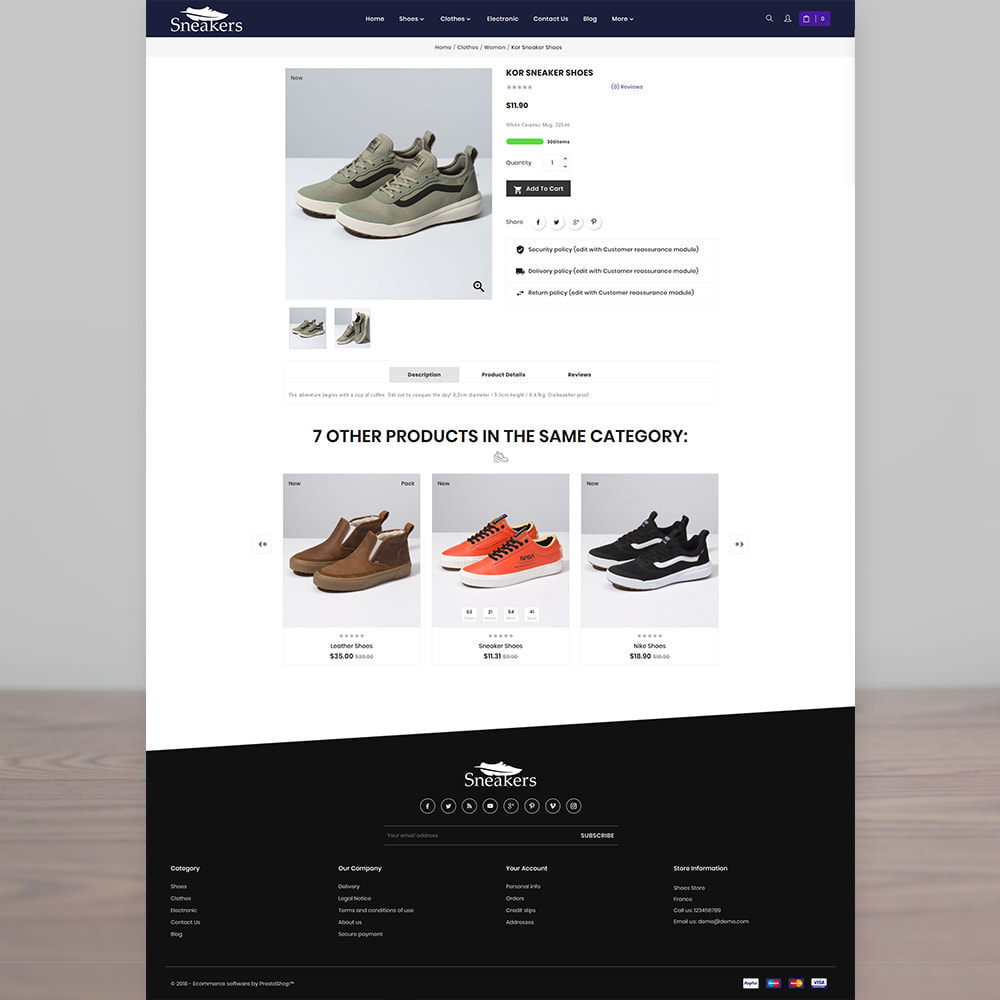 theme - Спорт и Путешествия - Sneakers The Sport Shoes Store - 4