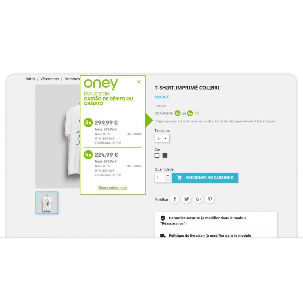 module - Formas de Pagamento Alternativas - 3x 4x Oney – O Pagamento fracionado com a garantia ONEY - 3