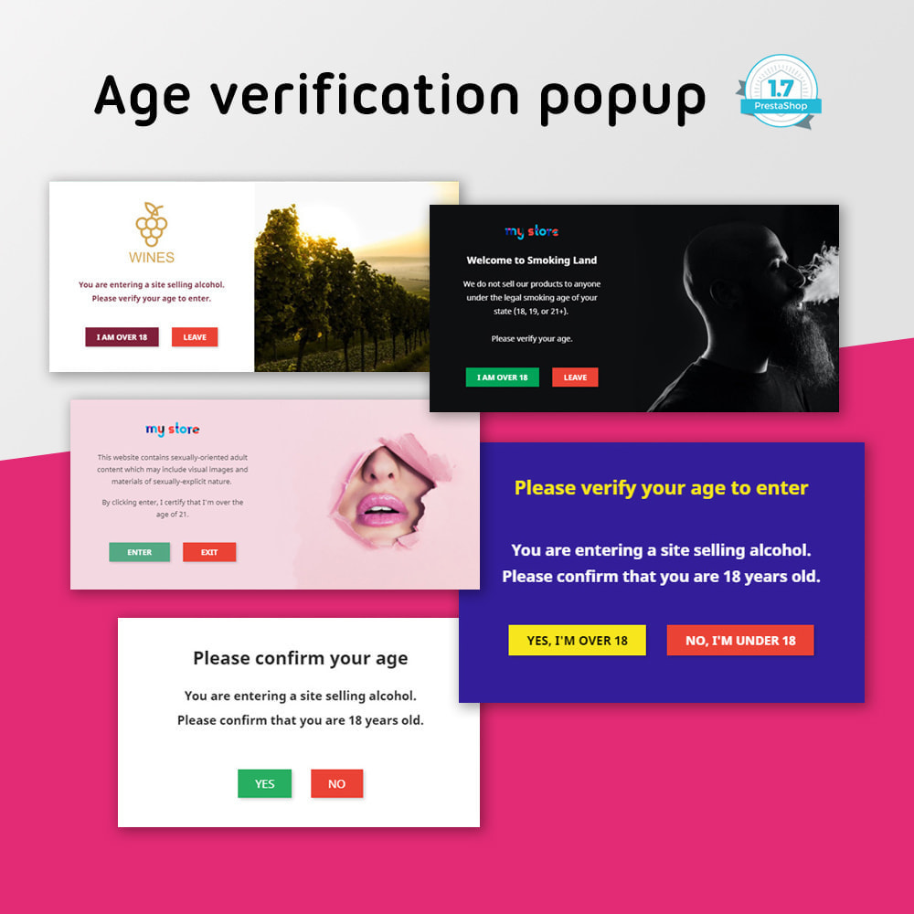 module - Security & Access - Age verify popup - 1