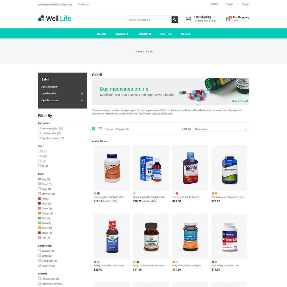 theme - Salud y Belleza - Well Life - Medicine Medical Drug Pharmacy Store - 4