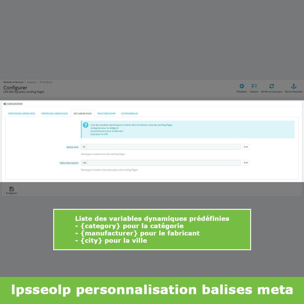 module - SEO (référencement naturel) - SEO Dynamic Landing Pages - 8