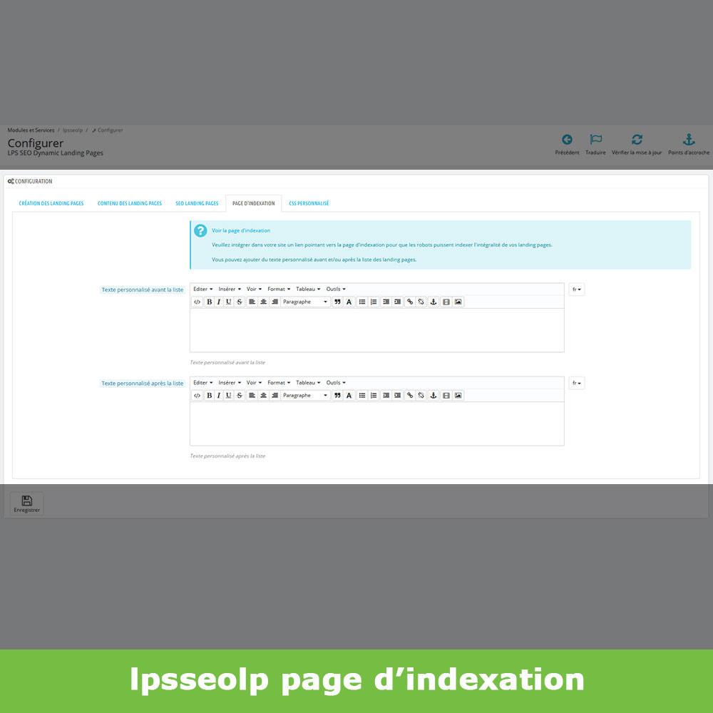 module - SEO (référencement naturel) - SEO Dynamic Landing Pages - 9